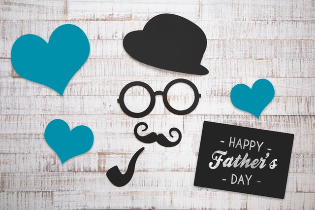 happy father's day heart