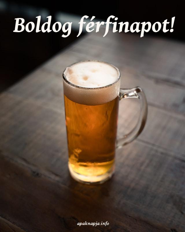 boldog férfinapot sör