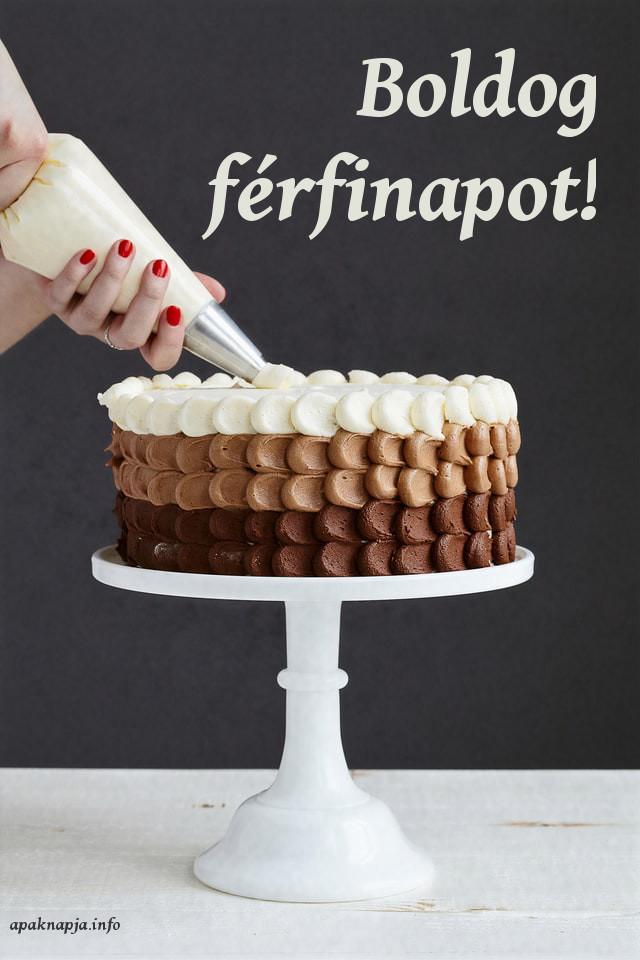 boldog férfinapot torta