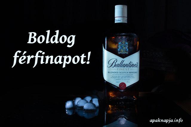 boldog férfinapot whisky